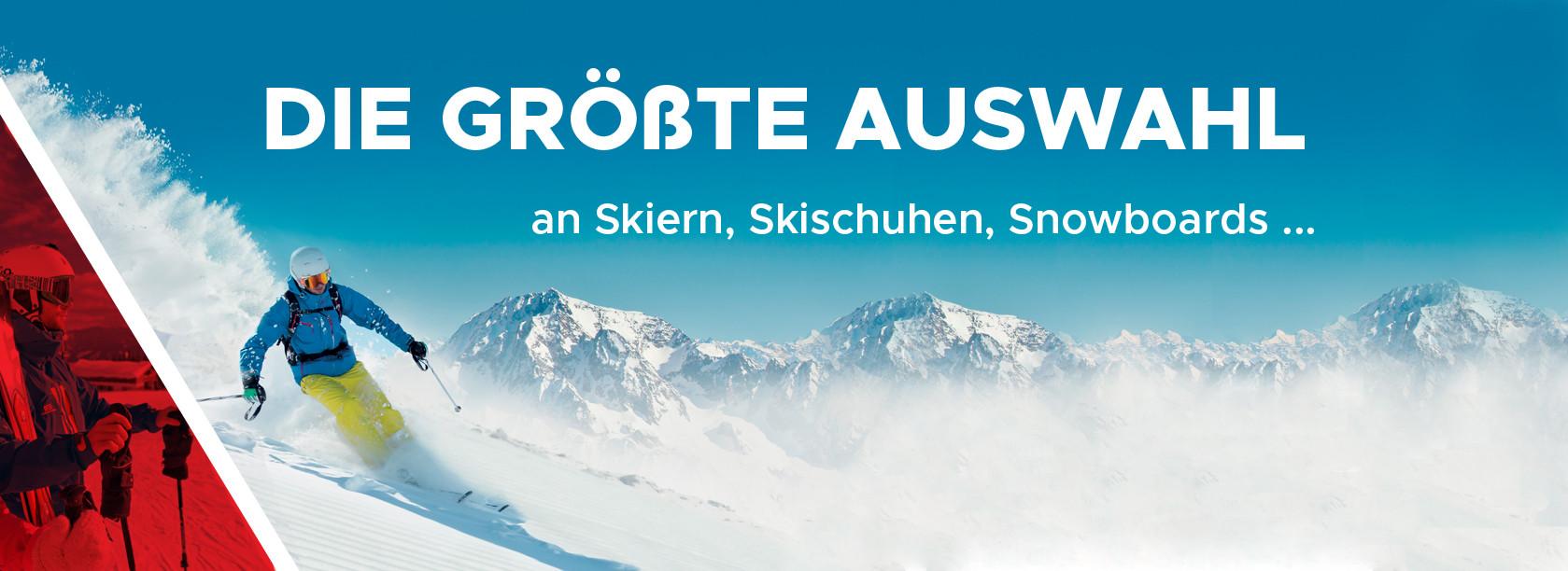 Die größte Auswahl an Skiern, Skischuhen, Snowboards ...